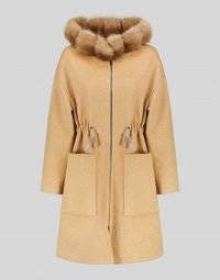 CASHMERE PARKA WITH SABLE