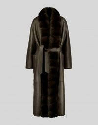 SHEARLING COAT WITH SABLE