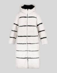 REVERSIBLE HOODED DOWN COAT WITH MINK