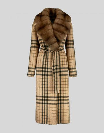 CASHMERE COAT WITH SABLE