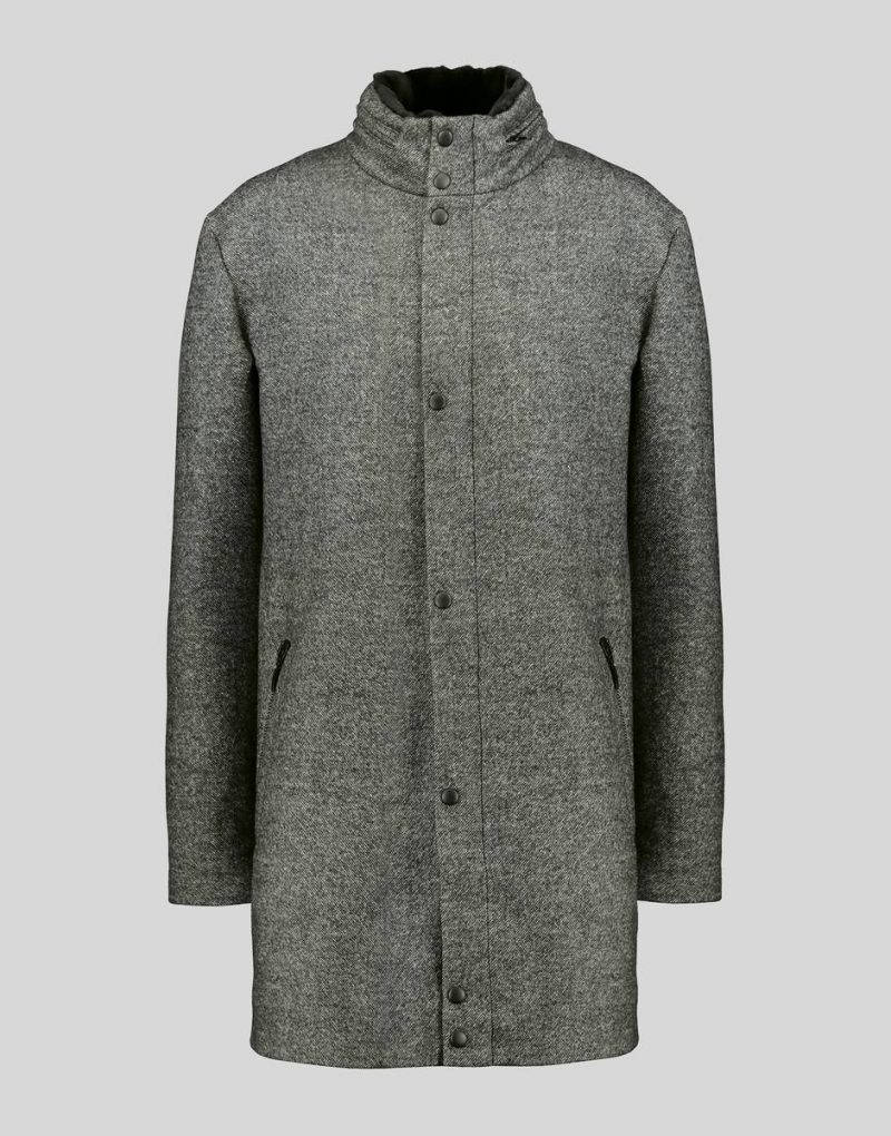 WOOL COAT WITH MINK