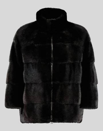 REVERSIBLE DOWN JACKET WITH MINK